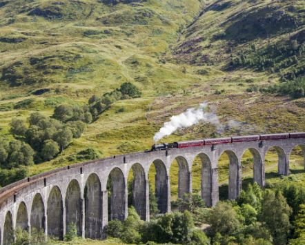 Glenfinnan Viaduct, Harry Potter filming location in Scotland