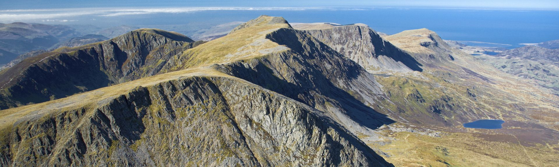 The mountains of Snowdonia in Wales