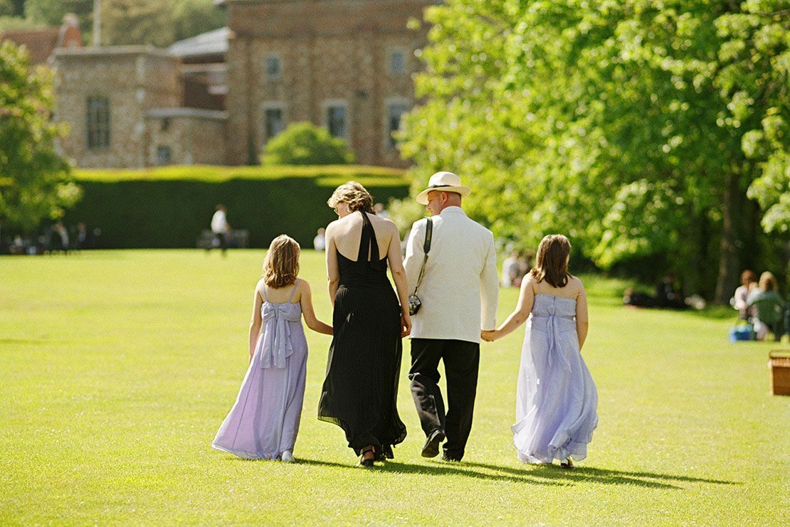 A well-dressed family at the Glyndebourne Opera Festival